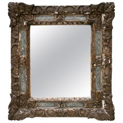 19th Century French Rocaille Decor Wood Mirror