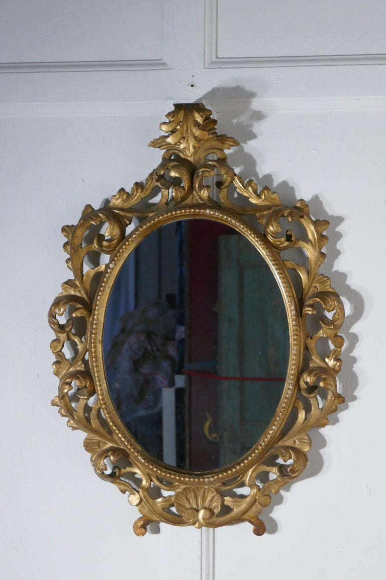 19th Century French Rococo Gilt Wall Mirror In Good Condition For Sale In Chillerton, Isle of Wight