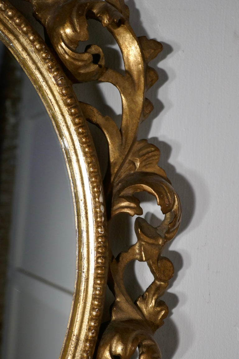 19th Century French Rococo Gilt Wall Mirror For Sale 3