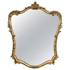 19th Century French Rococo Louis XV Style Giltwood Mirror