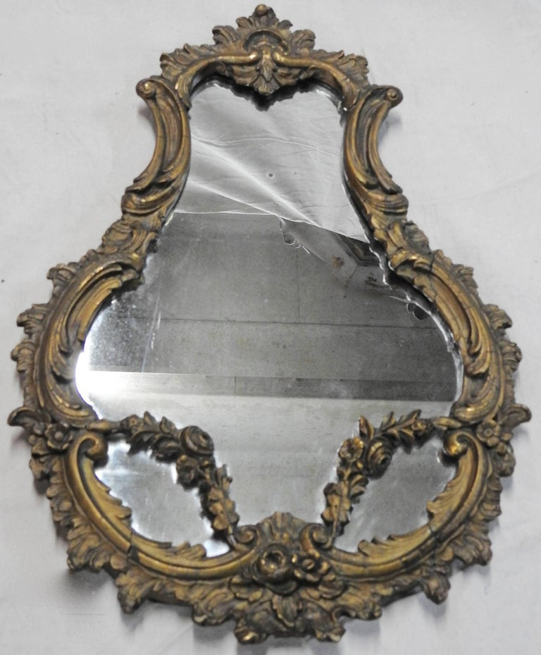 We are offering a fabulous pair of late 19th century French Rococo mirrors. The mirrors are detailed with scrollwork and floral accents.