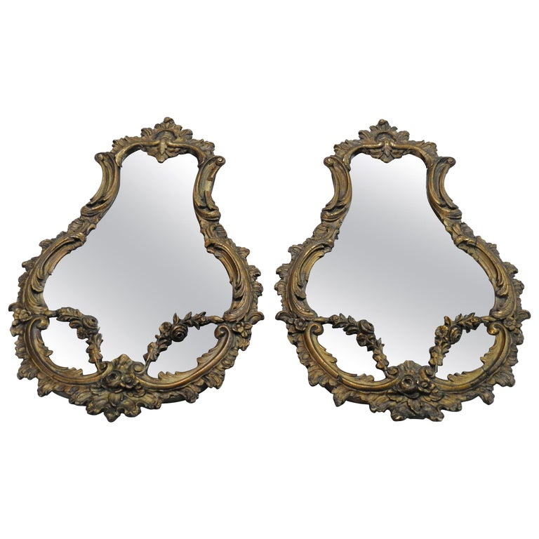 19th Century French Rococo Mirrors, Pair