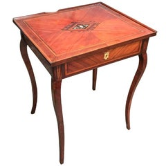 19th Century French Rosewood and Inlaid Table