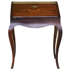 19th Century French Rosewood Bureau De Dame