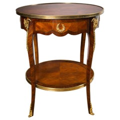 19th Century French Round End Table
