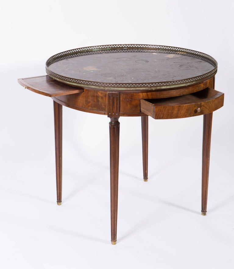 19th Century French Round Mahogany Side Table With Marble Top For 1