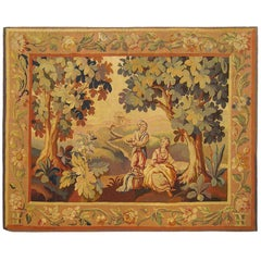 19th Century French Rustic Landscape Tapestry