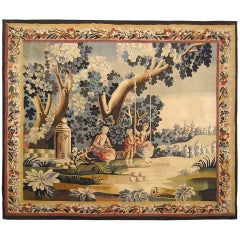 19th Century French Rustic Tapestry