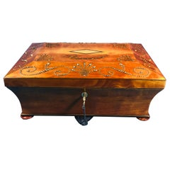 19th Century French Satinwood Jewelry Box