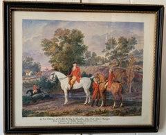 19thC  portrait of the Duc De Chartres and Louis Philippe with their horses