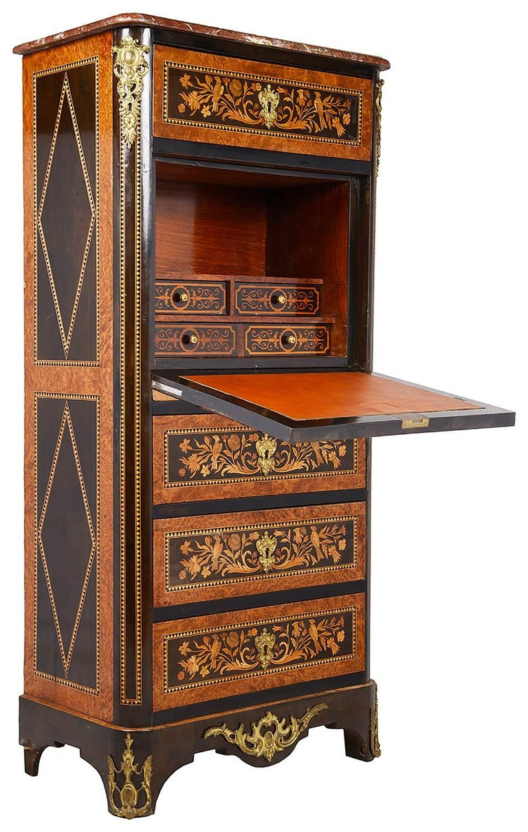Louis XVI 19th Century French Secretaire Chest For Sale
