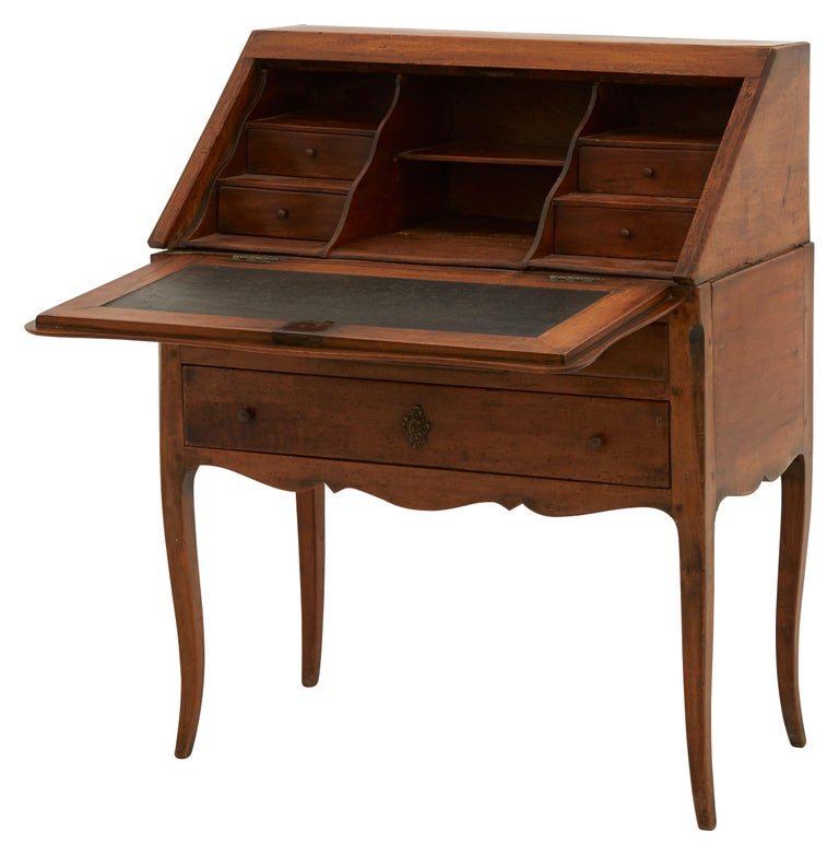 Brass 19th Century French Secretary Desk For Sale