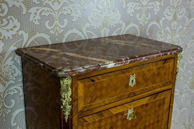 Rosewood 19th Century French Secretary Desk in the Louis XV Style