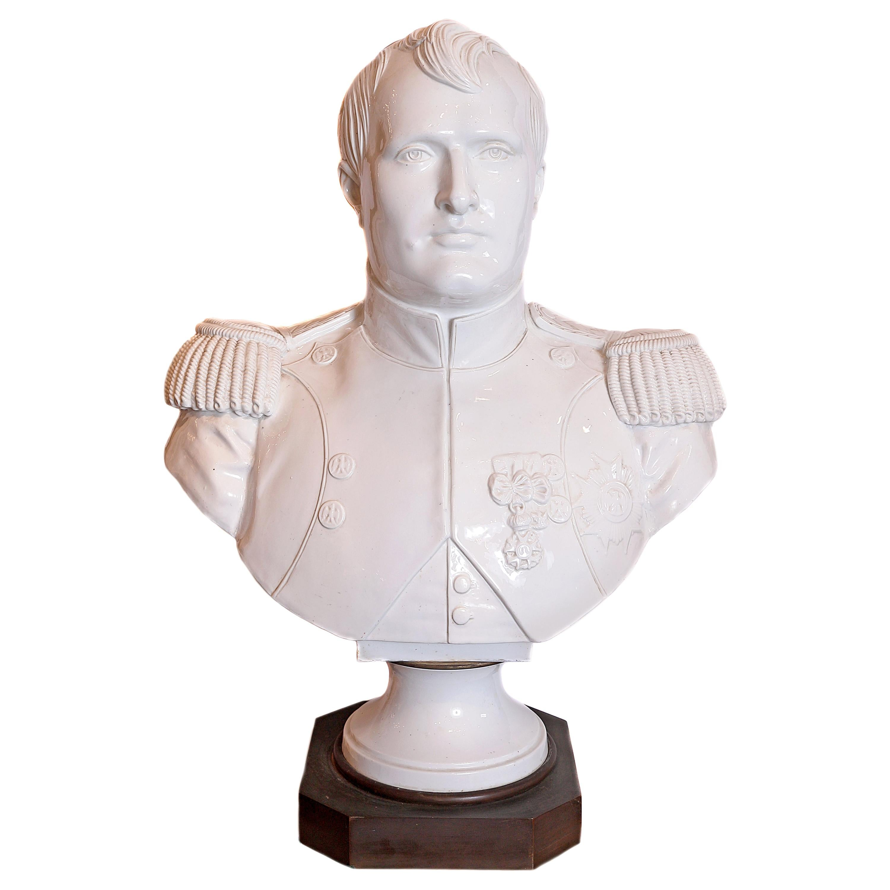 19th Century French Serves Porcelain Bust of Napoleon