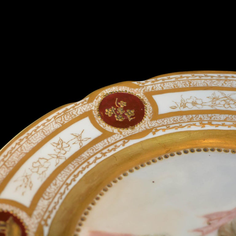 Late 19th Century 19th Century French Sevres Painted & Gilt Portrait Plate Haviland Numbered For Sale