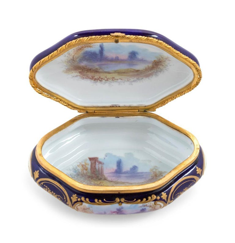 19th Century French Sevres Porcelain Box For Sale 1