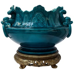 19th Century French Sèvres Porcelain Ormolu-Mounted Center Bowl, circa 1880