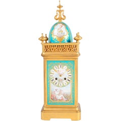 19th Century French Sevres Style Mantel Clock