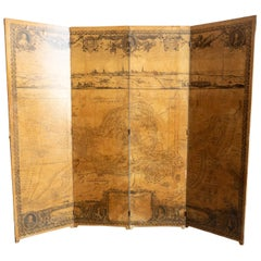 19th Century French Siege of Arras Floor Screen