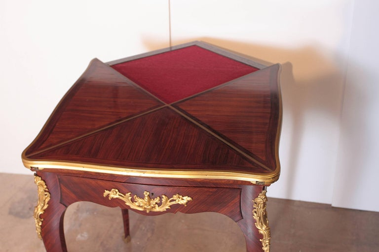 19th Century French Signed P Sormani Envelope Game Table For Sale 6