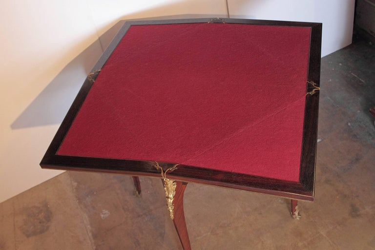 19th Century French Signed P Sormani Envelope Game Table For Sale 3