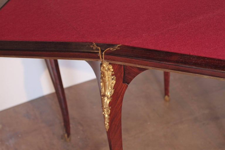 19th Century French Signed P Sormani Envelope Game Table For Sale 4