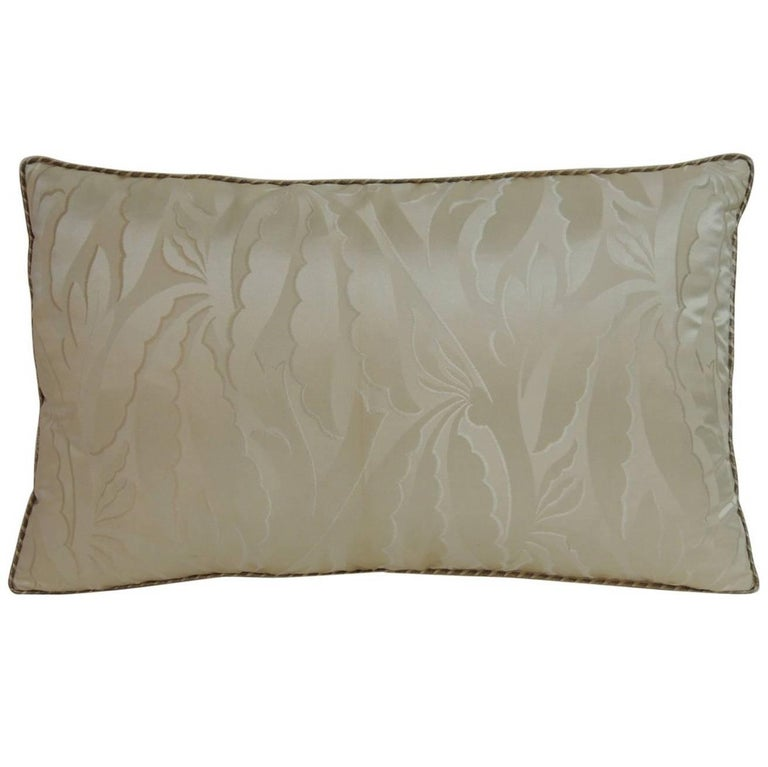 19th Century French Silk Deco Decorative Lumbar Pillow For Sale