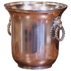 19th Century French Silver Plated over Brass Champagne or Wine Cooler Bucket