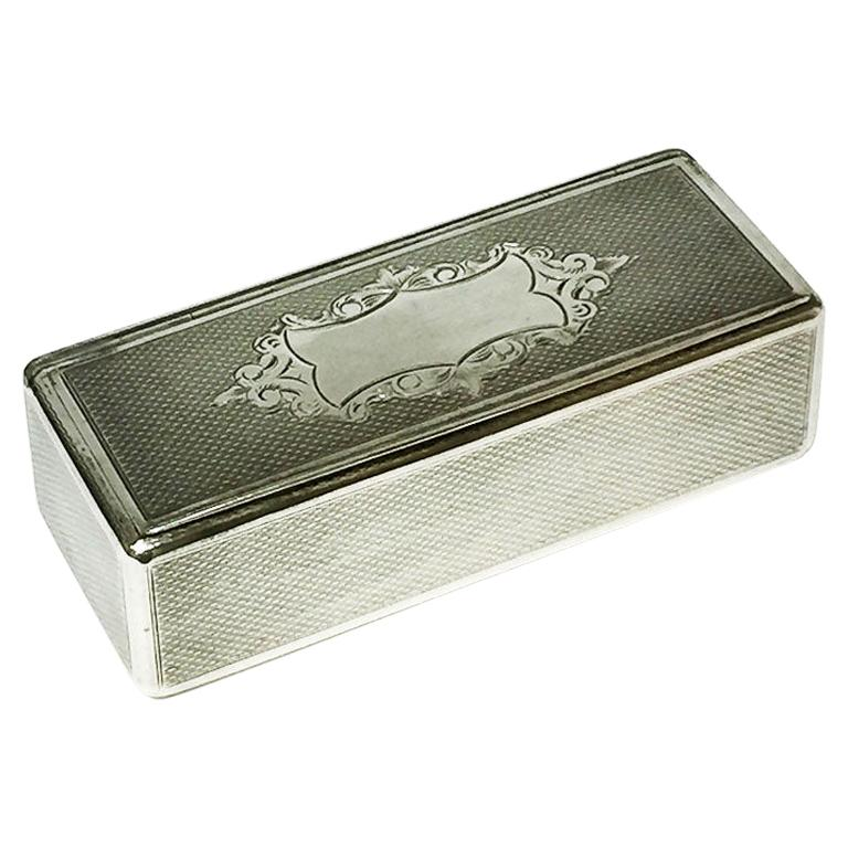 19th Century French Silver Snuff Box