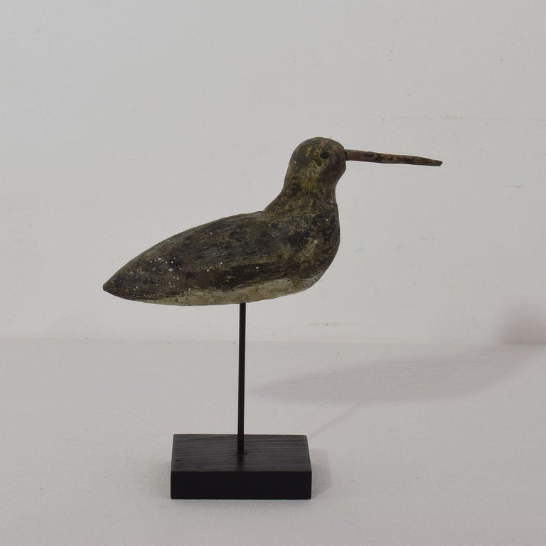 Wood 19th Century French Snipe Decoy For Sale