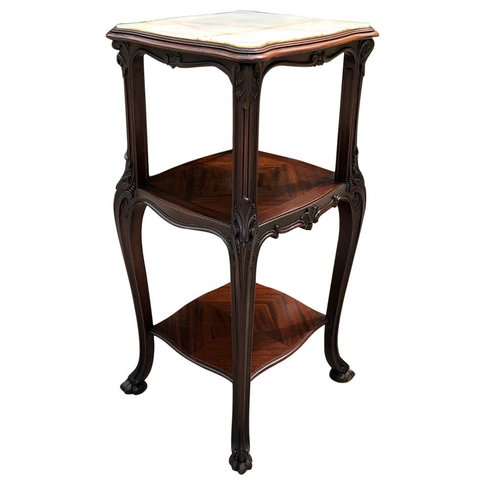 19th Century French Solid Rosewood End Table, Nightstand