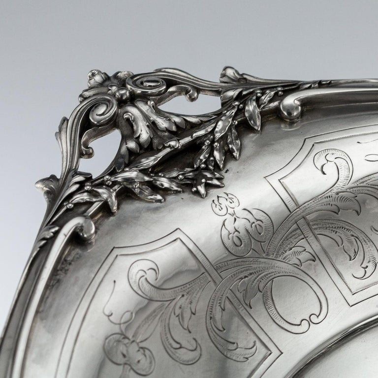 19th Century French Solid Silver Figural Centrepiece, Frey & Fils, Paris C.1880 For Sale 6