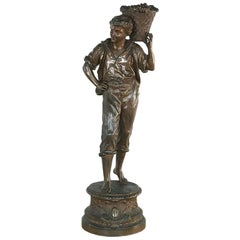 19th Century French Spelter Statue