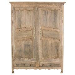 19th Century French Star Oak Wardrobe