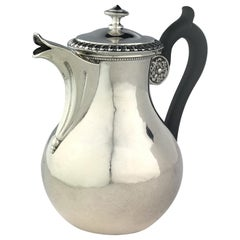 19th Century French Sterling Silver Chocolate, Tea or Coffee Pot