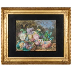 19th Century French Still Life in Gilded Frame
