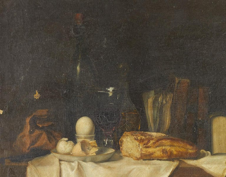 Charming 19th century French still life oil on canvas painting.