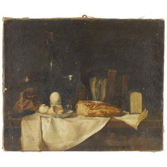 19th Century French Still Life Oil on Canvas