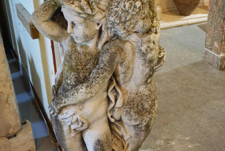 19th Century French Stone Garden Statues In Good Condition For Sale In Dallas, TX