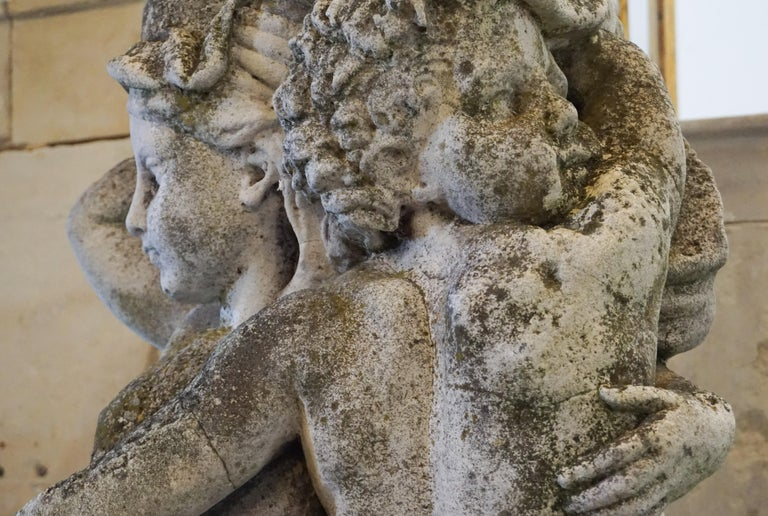 19th Century French Stone Garden Statues For Sale 2