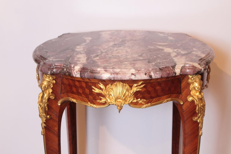 Louis XV 19th Century French Table by F. Linke For Sale