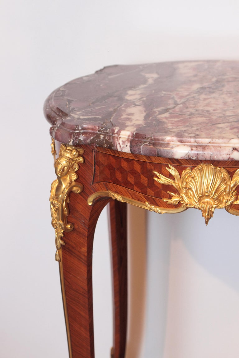 Gilt 19th Century French Table by F. Linke For Sale