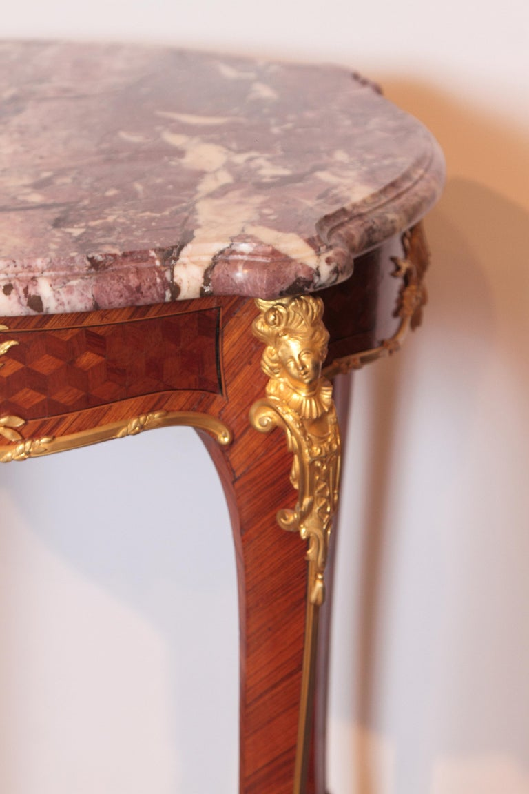 19th Century French Table by F. Linke In Good Condition For Sale In Dallas, TX