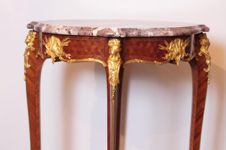 Kingwood 19th Century French Table by F. Linke For Sale