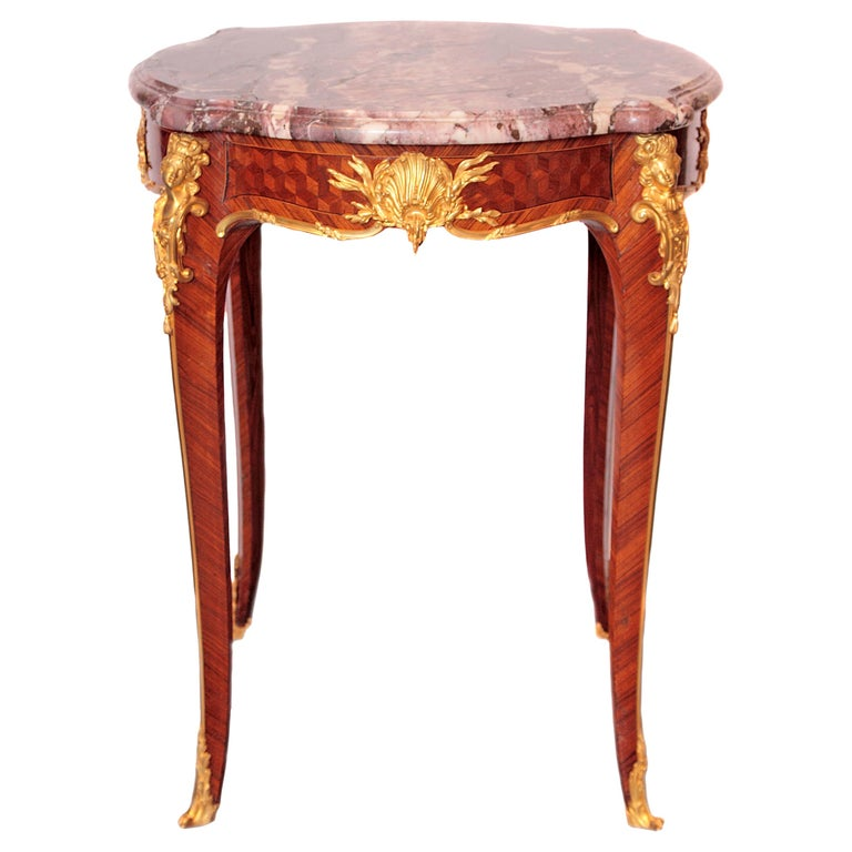 19th Century French Table by F. Linke For Sale