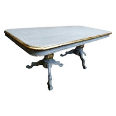 19th Century French Table with Grey Color Patina