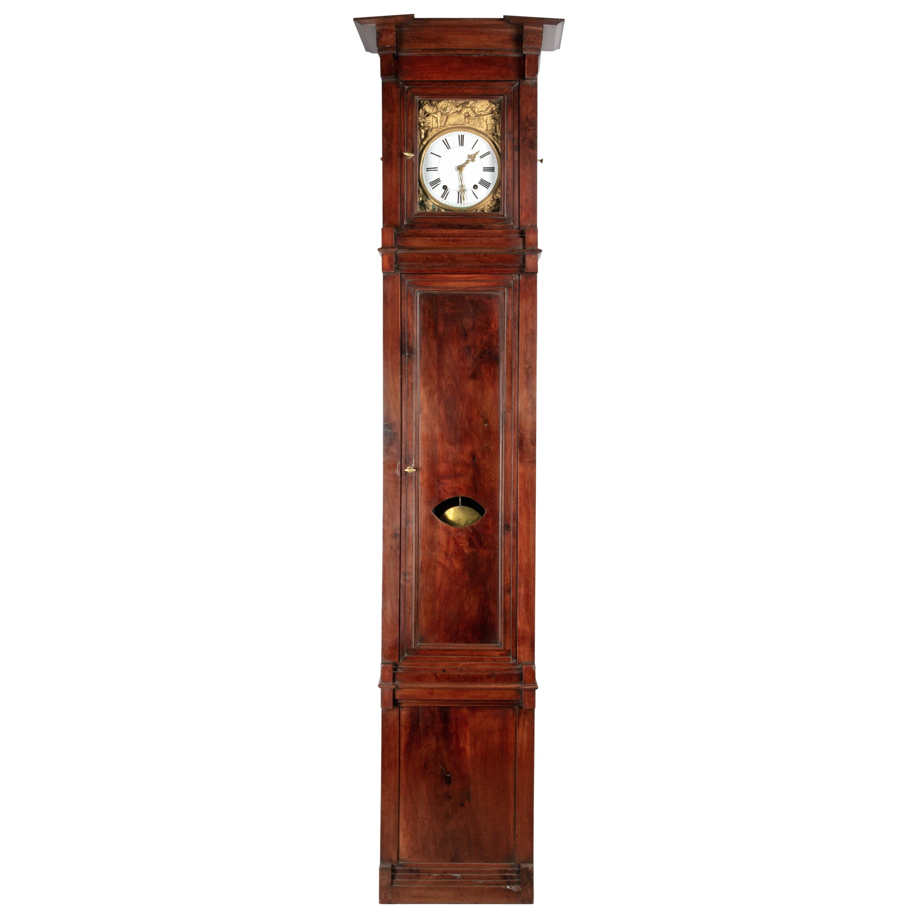 19th Century French Tall Case Clock or Horloge de Parquet