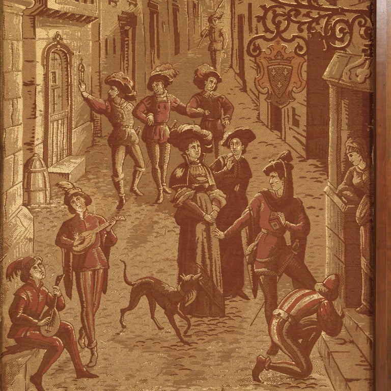 19th Century French Tapestries Depicting Life of French Nobility, Set of 4 For Sale 4