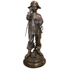 19th Century French Tax Collector Bronze Figure Sculpture