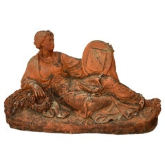 19th Century French Terracotta Sculpture of a Lady